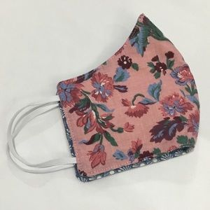 Adult face mask handmade floral reversible mask